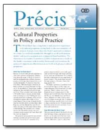 Cultural Properties in Policy and Practi... by The World Bank