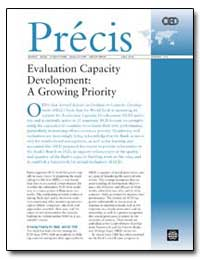 Evaluation Capacity Development : A Grow... by The World Bank