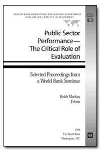 Public Sector Performance the Critical R... by Mackay, Keith