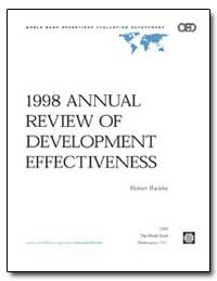 1998 Annual Review of Development Effect... by Buckley, Robert M.