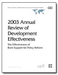 2003 Annual Review of Development Effect... by The World Bank