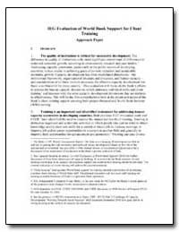 Ieg Evaluation of World Bank Support for... by The World Bank
