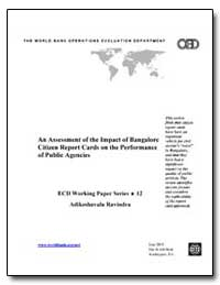 An Assessment of the Impact of Bangalore... by Ravindra, Adikeshavalu