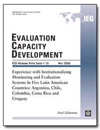 Evaluation Capacity Development : Experi... by Zaltsman, Ariel