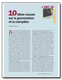 10 Idees Recues sur la Gouvernance et la... by Kaufmann, Daniel