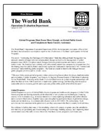 The World Bank Operations Evaluation Dep... by Jackson, Vivian R.