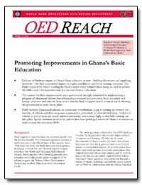 Promoting Improvements in Ghanas Basic E... by White, Howard