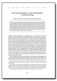International Evidence on the Determinan... by Masson, Paul R.