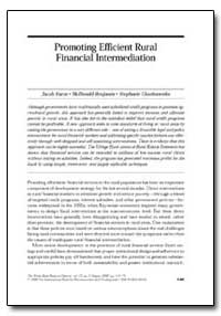 Promoting Efficient Rural Financial Inte... by Yaron, Jacob