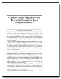 Climate Change, Agriculture, And Develop... by Mendelsohn, Robert