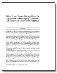 What Does Climate Change Mean for Agricu... by Reilly, John