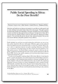 Public Social Spending in Africa : Do th... by Castro-Leal, Florencia