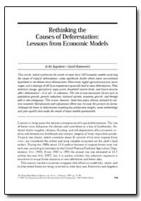Rethinking the Causes of Deforestation :... by Angelsen, Arild