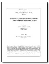 Nicaraguas Experiment to Decentralize Sc... by Magdalena Rivarola Harvard University
