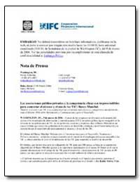 Nota de Prensa by The World Bank