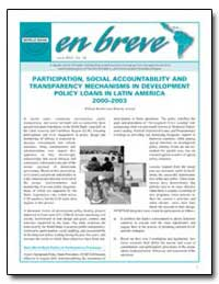 Participation, Social Accountability and... by Reuben, William