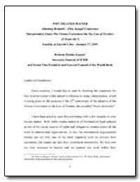 Why Treaties Matter (Opening Remarks - F... by Zapata, Roberto Danino