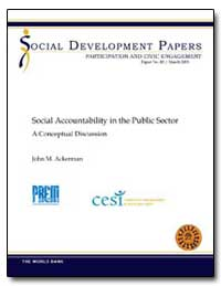 Social Accountability in the Public Sect... by Ackerman, John M.