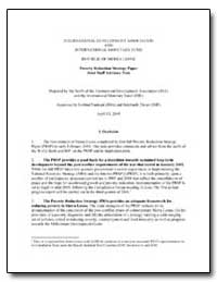 Poverty Reduction Strategy Paper : Joint... by Nankani, Gobind T.