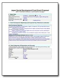 Japan Social Development Fund Grant Prop... by The World Bank