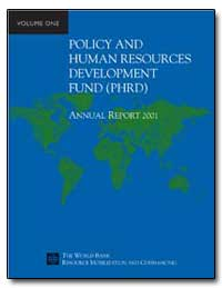 Policy and Human Resources Development F... by The World Bank