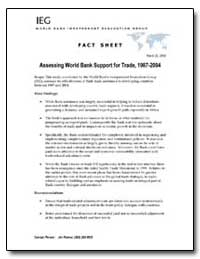 Assessing World Bank Support for Trade, ... by The World Bank