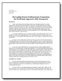The Lending Process in Infrastructure Tr... by The World Bank