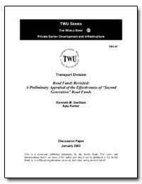 Road Funds Revisited : A Preliminary App... by Gwilliam, Kenneth M.