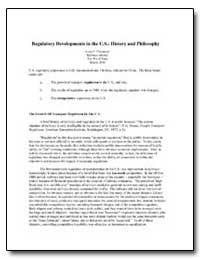 Regulatory Developments in the U.S. : Hi... by Thompson, Louis S.