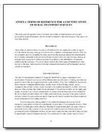 Annex 1. Terms of Reference for a Countr... by The World Bank