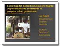 Social Capital, Social Exclusion and Rig... by The World Bank