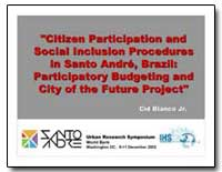 Citizen Participation and Social Inclusi... by Blanco, Cid, Jr.