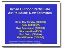 Urban Outdoor Particulate Air Pollution ... by Pandey, Kiran Dev