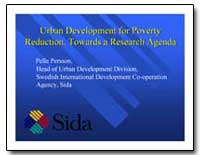 Urban Development for Poverty Reduction ... by Persson, Pelle