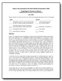 Paper to Be Presented at the Urban Resea... by The World Bank