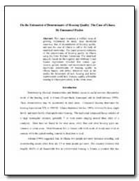 On the Estimation of Determinants of Hou... by Fiadzo, Emmanuel E.