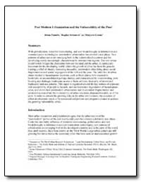 Post Modern Urbanization and the Vulnera... by Pantelic, Jelena