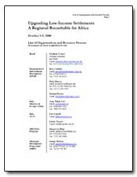 Upgrading Low Income Settlements a Regio... by Franca, Elisabete