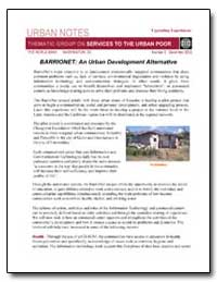 Urban Notes Thematic Group on Services t... by The World Bank