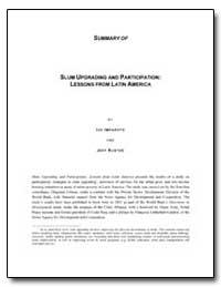 Slum Upgrading and Participation : Lesso... by Imparato, Ivo