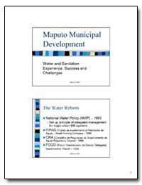 Maputo Municipal Development by The World Bank