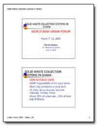 Solid Waste Collection Systems in Ghana by Boakye, Charles