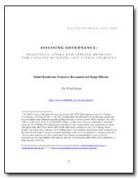 Assessing Governance : Diagnostic Tools ... by The World Bank