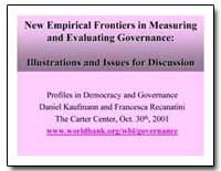 New Empirical Frontiers in Measuring and... by The World Bank