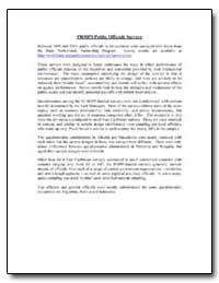 Prmps Public Officials Surveys by The World Bank