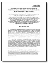 Corrupcion, Desempeno Institucional, Y G... by The World Bank