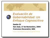 Evaluacion de Gobernabilidad : Un Enfoqu... by The World Bank