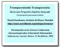 Cinco Hipotesis Sobre Transparencia by The World Bank