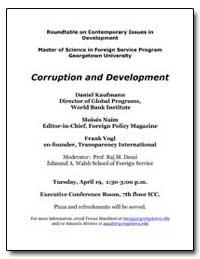 Corruption and Development by Kaufmann, Daniel