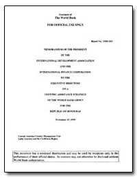 Memorandum of the President of the Inter... by The World Bank